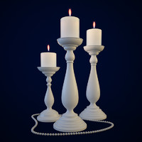 3d candle holders