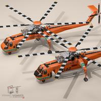 3d model of s-64f skycrane s-64e s-64