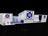 exhibition stall 3d max