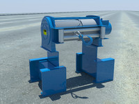 3d towing winch model