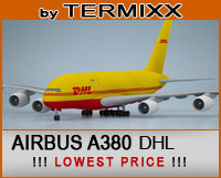 3d airplane airbus a380 dhl model