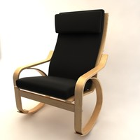 ikea poang rocky chair 3d max