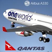 3d airbus a330-300 qantas