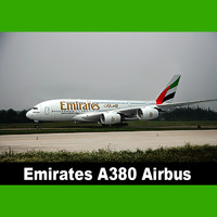 3ds max emirates a380 airbus