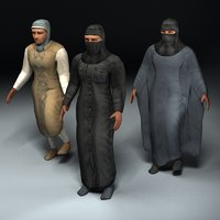 arab female rigged civilians max