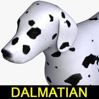 3d dog dalmatian model