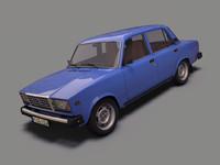 3d model riva 2107 lada