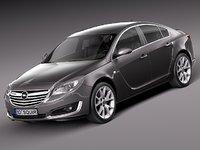 3d model 2013 2014 sedan opel