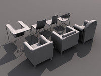3d seven chairs model