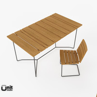 Outdoor tables and chair Grinda Set by Skargaarden
