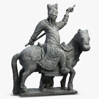 3d model guardian horse sculpture 1