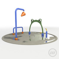 3d water splash pad model