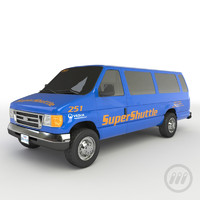 3dsmax super shuttle van