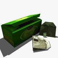 c tea bags 3d model