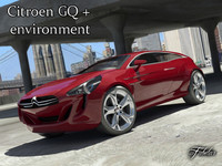 3d model citroen gq concept car speed