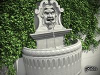 stone fountain 3d model