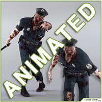 Zombie Policeman Animated