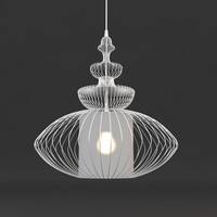 3d wire chandelier model
