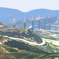 3d max millau viaduct bridge