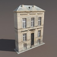 building exterior modelled 3ds