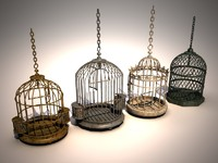 3ds max birdcages decorations