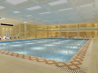 swimming pool indoor 3d model