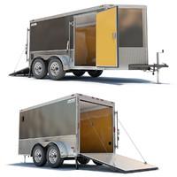 cargo trailer 3d lwo