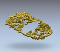 3d dragon tea relief