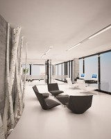 3d minimalistic white office design