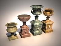 3d flower pots model