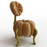 chair baroque pumpkin 3d max