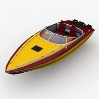 motor boat c4d