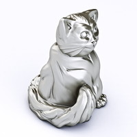 3d model fat cat printable printing