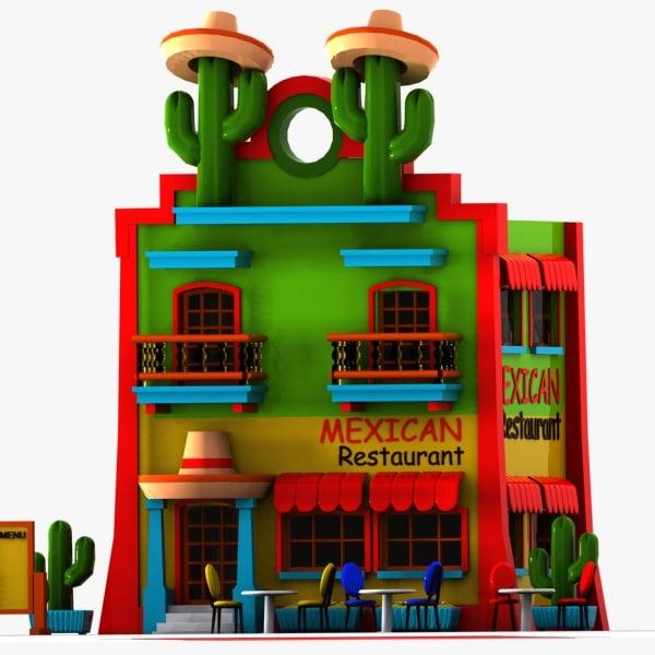 Mexican Restaurant Building Clip Art