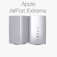 apple airport extreme 2013 3d model