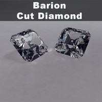 barion cut diamond 3d model