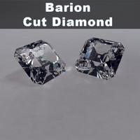 barion cut diamond 3d model