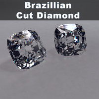 brazilian cut diamond 3d max