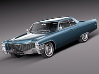 1965 antique luxury cadillac 3d 3ds