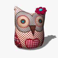 3d toy owl