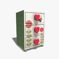 jewelry drawers 3d obj