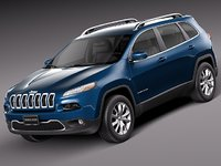 2013 2014 suv jeep cherokee 3d 3ds