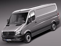3d model mercedes sprinter short 2014