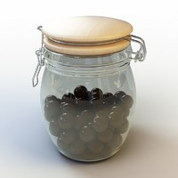 3ds max glass jar chocolate