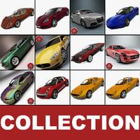sport cars 12 3d lwo