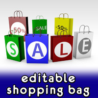 3d shopping bag model