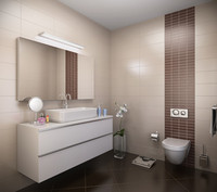 bathroom interior 3d max