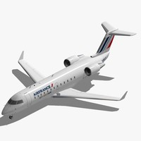 3d bombardier jet crj-200 air france model