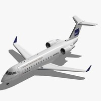 3d model of bombardier crj-200 sas crj