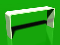 3d white bar table model
